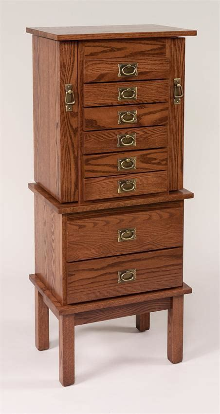 Mission Jewelry Armoire by 48 Quot Split Mission Jewelry Armoire From Dutchcrafters Amish