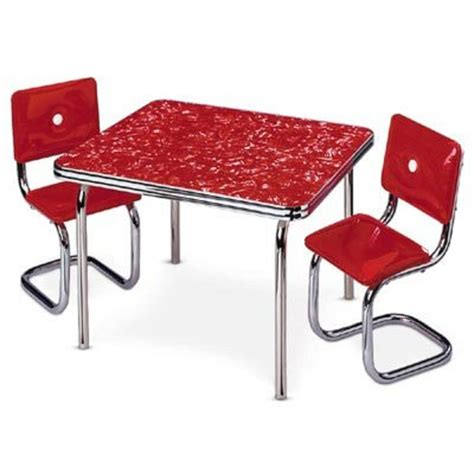 chrome table and chairs american molly 39 s table chairs nib red kitchen