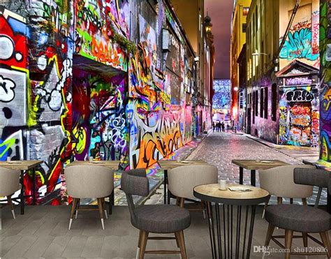 wallpaper custom photo mural modern pop street art