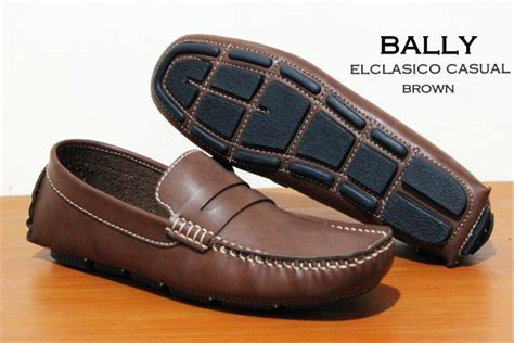 Sepatu Bally Mocasin Coklat jual sepatu loafer pria santai gaul sepatu bally loafer