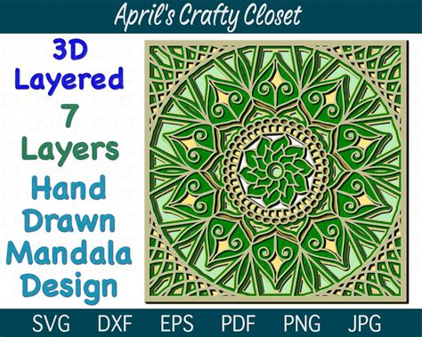 Free layered svg file for 3d layered owl mandala (available for the vips, become a vip member by entering cut out the owl mandala svg using the 3d layered svg free. 3D Layered Mandala SVG Cut File Hand Drawn Mandala Design ...