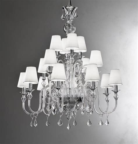modern murano chandelier l16k clear glass murano