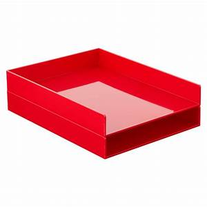 red poppin stackable letter tray the container store With red plastic letter tray
