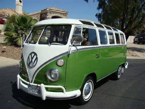 green volkswagen van pinterest