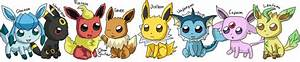 Chibi Eeveelutions by ClearGuitar on DeviantArt