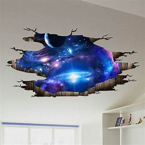 the Milky Way Universe 3D Wall Stickers Creative Wall ...