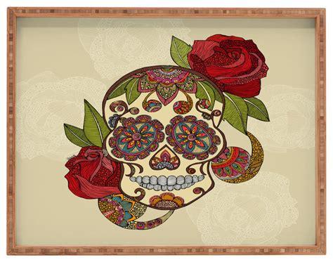 Deny Designs Valentina Ramos Sugar Skull Rectangular Tray