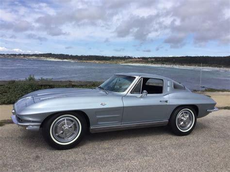 chevrolet corvette coupe  silver blue  sale