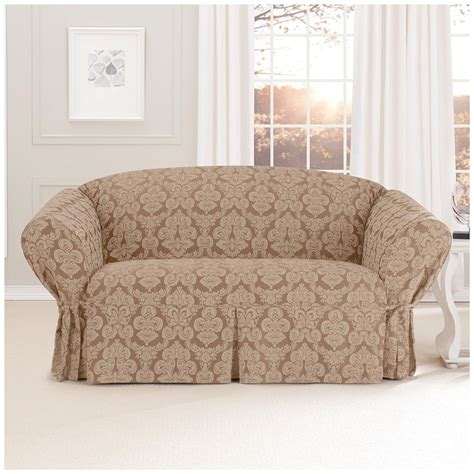sure fit sofa covers sure fit middleton loveseat slipcover 581236 furniture