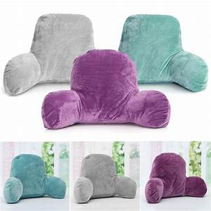 Lounger bed rest pillow backrest back arm support relax for Backrest for reading in bed