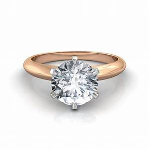 round brilliant cut solitaire engagement ring in platinum With wedding rings solitaire