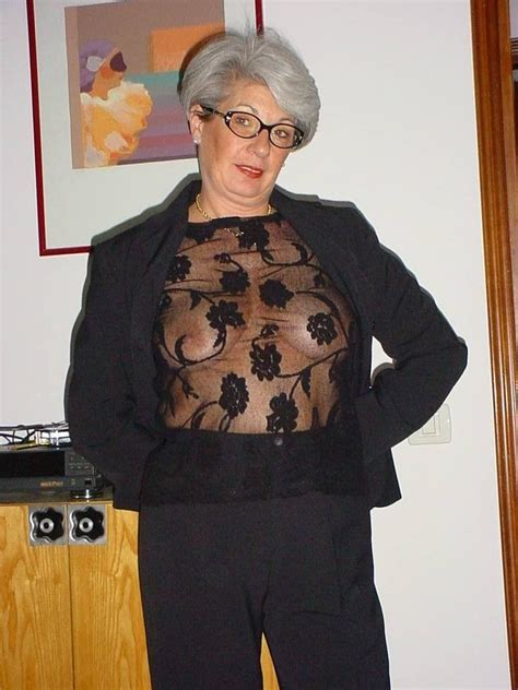 Mature Saggy Grannies Proudly Wearing See Thru 8 High