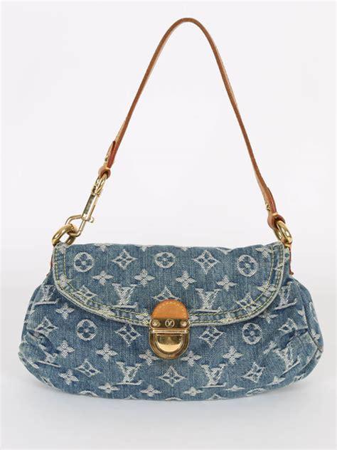louis vuitton mini pleaty denim bag blue luxury bags
