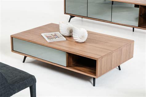 Mid Century Modern Living Room Modern Walnut And Mirrored Glass Coffee Table Philadelphia Pennsylvania Vig Kennedy