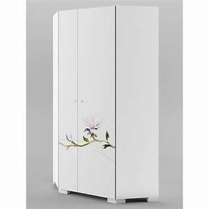 Armoire D Angle : armoire d 39 angle grace azura home design ~ Teatrodelosmanantiales.com Idées de Décoration