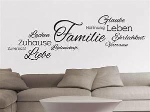 Wandtattoo Sprüche Familie : wandtattoo wortwolke familie bei ~ Frokenaadalensverden.com Haus und Dekorationen