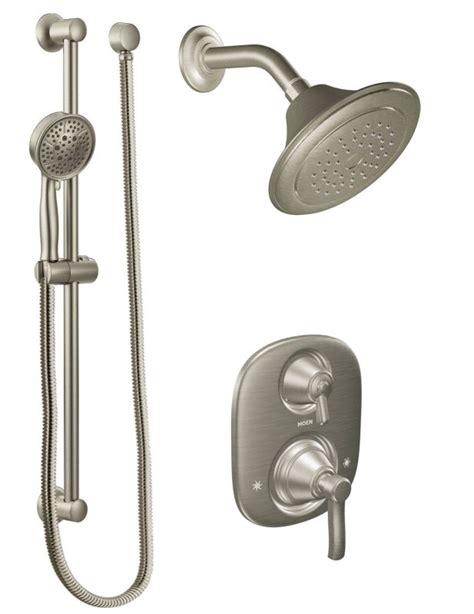 moen sbn brushed nickel pressure balanced shower system