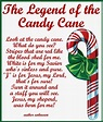 Candy Cane Legend Card Printable | Candy cane coloring ...