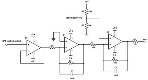 Ph Orp Diagram by The Orp Sensor Signal Conditioning Circuit