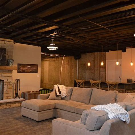 unfinished basement ceiling paint ideas best 25 unfinished basement decorating ideas on
