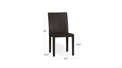 folio saddle top grain leather dining chair crate and barrel