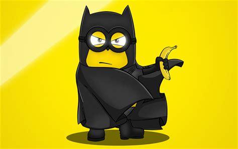 Download Wallpapers Batman, Banana, Minions, Despicable Me