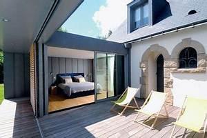 Prix M2 Extension Maison Parpaing : 60 m2 pour une extension en bois c t maison ~ Melissatoandfro.com Idées de Décoration