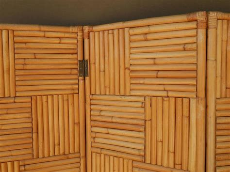 Rare Vintage Rattan Room Divider Or Screen For Sale At Stdibs