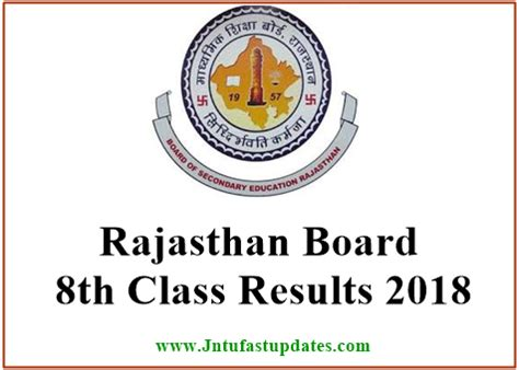 rajasthan board 8th result 2018 released ajmer rbse 8th class results name wise marks