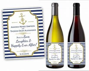 nautical wedding bottle labels wine beer champagne With champagne bottle labels for weddings