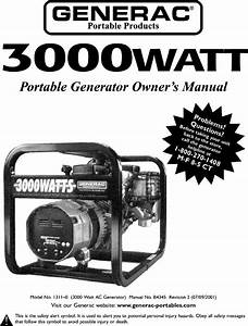 Generac 1311 0 User Manual Generator Manuals And Guides