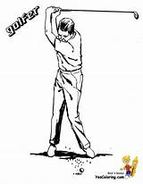 Golf Coloring Pages Amateur Yescoloring Golfers Course Boys Clubs Gallant Sport Players sketch template