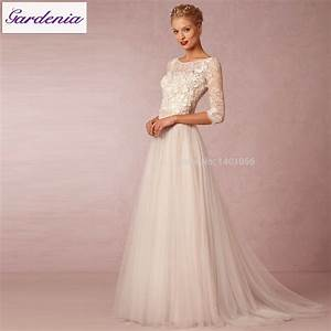 robe de mariage 2015 vintage bohemian charm long sleeve With flowing wedding dresses
