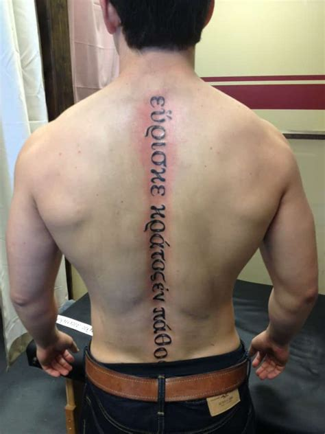 spine tattoos  men ideas  designs  guys