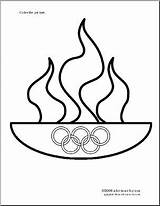 Olympic Torch Olympics Flame Coloring Pages Abcteach Para Theme Sports Summer Crafts Printable Drawn Teacher Juegos Colorear Puzzles Writing Dibujos sketch template