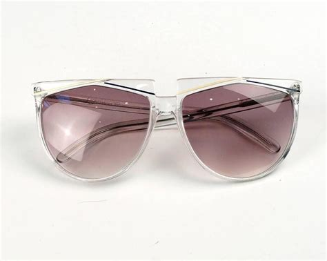 Verses (versace) Clear Frame Sunglasses For Sale At 1stdibs