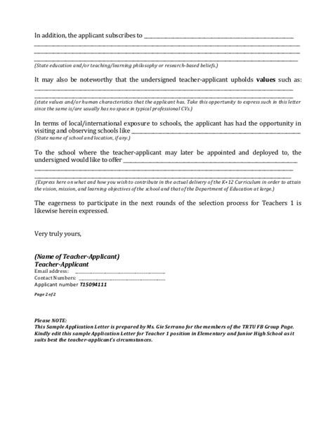 Letter Of Application For Teaching Post by Letter Of Application For Teaching Post Fresh Buy Custom