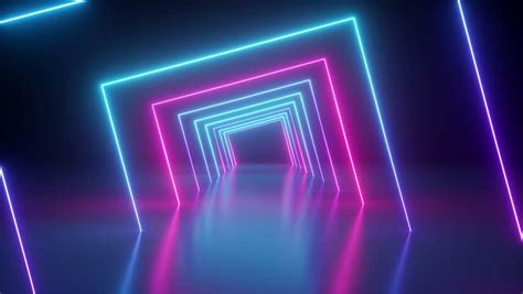 spinning  neon tunnel blue stock footage video