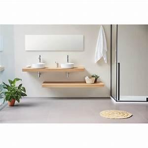 Plan Suspendu Pour Vasque : meuble salle de bain design simple vasque siena largeur 60 ~ Teatrodelosmanantiales.com Idées de Décoration