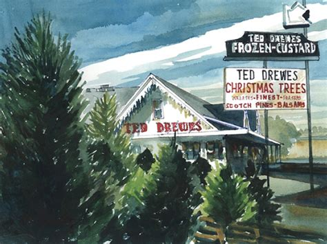 inside st louis ted drewes christmas trees frozen custard