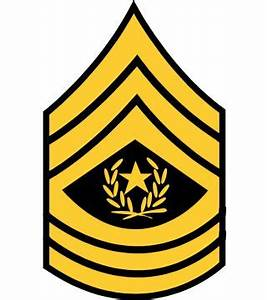 Army - Command Sergeant Major Army Rank - Branch Insignia