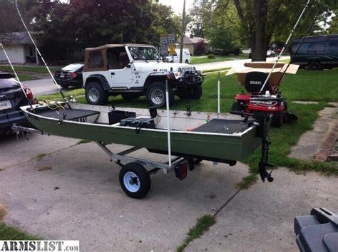Jon Boat Trailers For Sale by Armslist For Sale Trade 12 Jon Boat W Trailer