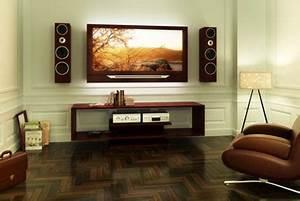 Fixer Une Télé Au Mur : quelle hauteur pour un meuble tv cdiscount ~ Premium-room.com Idées de Décoration