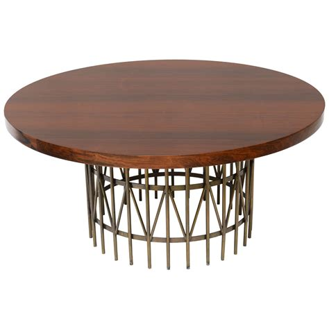 milo baughman coffee table rosewood and patinated brass coffee table designed by milo