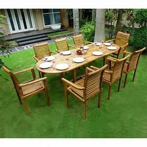 Fauteuil De Salon De Jardin : ensemble en teck de jardin 8 fauteuils de jardin en teck raja ~ Melissatoandfro.com Idées de Décoration