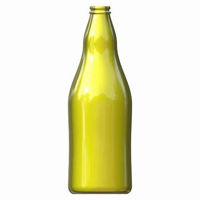 Yellow Bottle Glass Shade Pendant Neon Wine