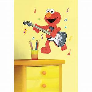 wall decal decorate kids room with sesame street wall With cute elmo wall decals