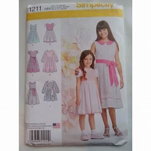Simplicity 1211 Girls Dress Pattern with Sleeve Variations ...