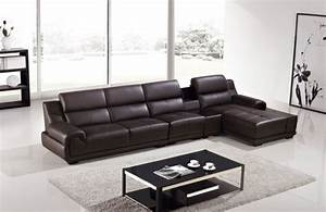 modern dark brown genuine leather sofa chaise chair With genuine leather sectional sofa with chaise