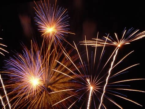 photo fireworks sylvester rocket night